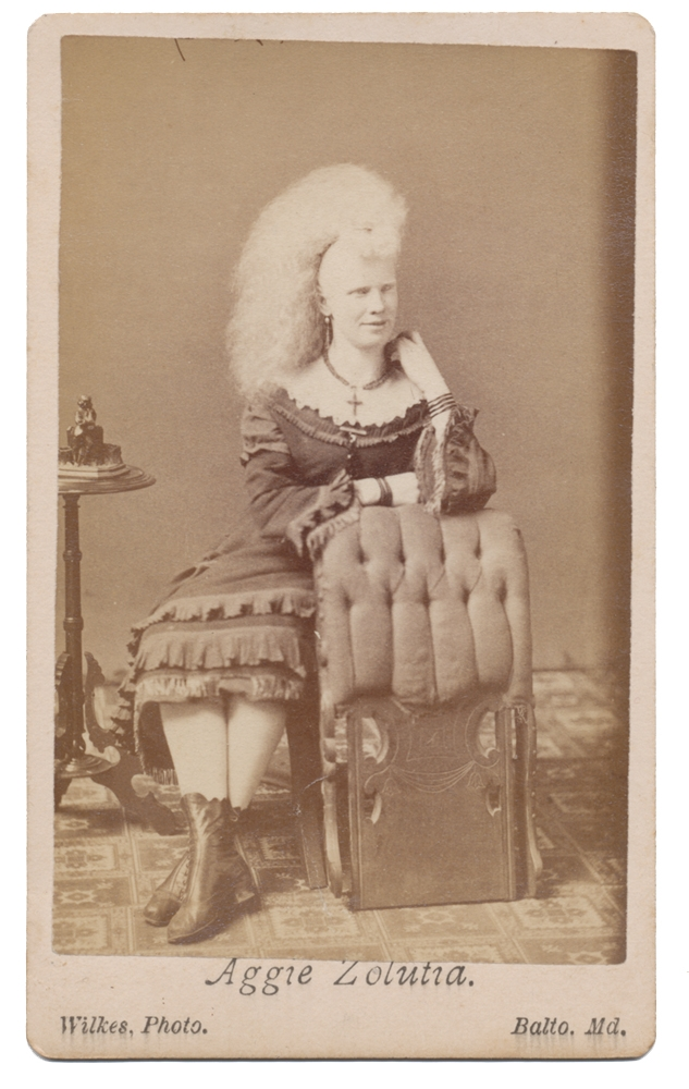 "CDV OF AGGIE ZOLUTIA, A ""CIRCASSIAN LADY"""