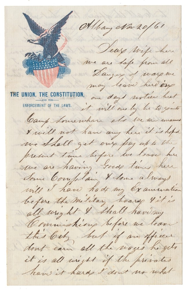 "SOLDIER LETTER - PERRY BLY, CO. ""M"", 9TH NEW YORK ""STONEMAN"" CAVALRY, DIED OF WOUNDS RECEIVED AT TODD'S TAVERN, VA"
