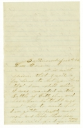 "LETTER WRITTEN BY SOLDER WOUNDED AT GETTYSBURG - PVT. JONATHAN MERRIL, C0. ""I"", 2nd NEW HAMPSHIRE INFANTRY"
