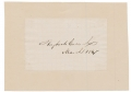 1867 SIGNATURE OF HUGH MCCULLOCH - FIRST COMPTROLLER OF THE CURRENCY, PRESIDENT LINCOLN'S THIRD SECRETARY OF THE TREASURY