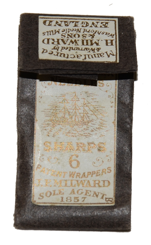 PACK OF MILWARD SEWING NEEDLES, 1857