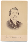 CABINET CARD – JOHN H. WILLEY, 1ST AND 2ND NEW HAMPSHIRE INFANTRY