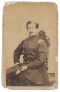 CDV SEATED VIEW OF 25TH AND 42ND NEW YORK OFFICER - DIED OF WOUNDS