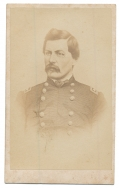 LITHOGRAPH CDV OF MAJOR GENERAL GEORGE B. MCCLELLAN