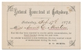 NATIONAL HOMESTEAD AT GETTYSBURG ORPHANAGE GOOD CONDUCT CARD