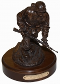 """PANZERGRENADIER 1944"" COLD CAST BRONZE SCULPTURE BY TERRY JONES"