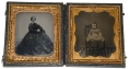 SIXTH PLATE AMBROTYPES OF LADY & CHILD