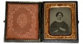 NINTH PLATE RUBY AMBROTYPE OF CIVIL WAR PERIOD WOMAN