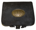 REGULATION 1861 CARTRIDGE BOX WITH PLATE