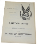 GETTYSBURG 100TH ANNIVERSARY OFFICIAL PROGRAM & CIVIL WAR TIMES ILLUSTRATED SPECIAL GETTYSBURG EDITION, 1963