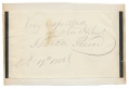 AUTOGRAPH INSCRIPTION (CUT) — FRANKLIN PIERCE, 14TH PRESIDENT OF THE UNITED STATES