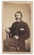 SEATED VIEW CDV OF 111TH & 194TH NEW YORK OFFICER