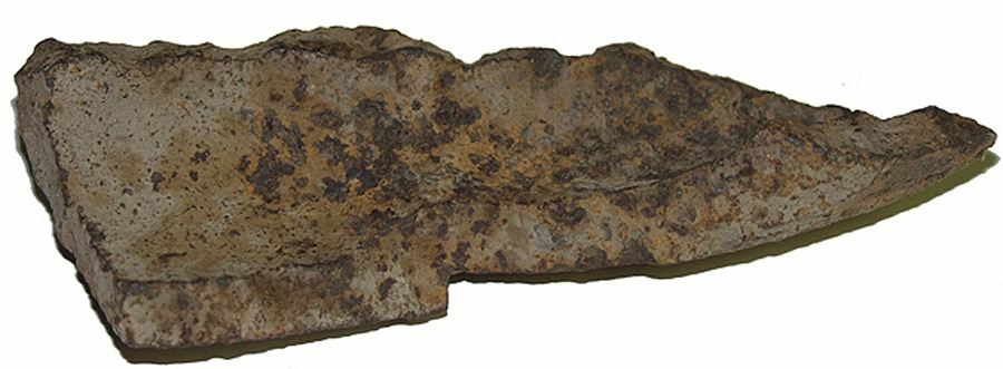 "3"" SCHENKL SHELL FRAGMENT RECOVERED IN REYNOLD'S WOODS, GETTYSBURG – GEISELMAN COLLECTION"