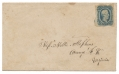 SOUTHERN MAIL ENVELOPE WITH CONFEDERATE POSTAGE