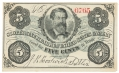 SCOTT'S NINE HUNDRED UNITED STATES CAVALRY 5 CENT SCRIP NOTE