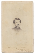 BUST CDV IMAGE OF 141ST PENNSYLVANIA OFFICER - WAS THE ONLY CAPTAIN LEFT IN HIS REGIMENT AFTER GETTYSBURG