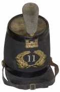 C1859-60 ENGINEER'S SHAKO IDENTIFIED TO S. FRICK, 11TH REGIMENT