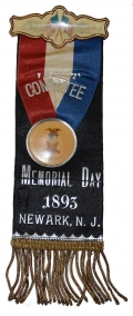 1893 NEWARK NEW JERSEY GAR MEMORIAL DAY RIBBON
