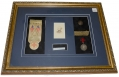 FRAMED PERSONALIZED OVERCOAT BUTTON IDENTIFIED TO MAJOR GENERAL PHILIP KEARNY WITH RELATED ITEMS