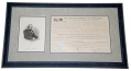 1866 FRAMED LAND WARRANT FOR WAR OF 1812 VETERAN