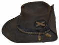 WONDERFUL FIELD-WORN IDENTIFIED ARTILLERY OFFICER'S SLOUCH HAT: RINGGOLD LIGHT ARTILLERY AND ERMANTROUT'S BATTERY OF PENNSYLVANIA INDEPENDENT LIGHT ARTILLERY