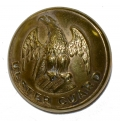 NEW YORK ULSTER GUARD COAT SIZE BUTTON, NY89