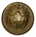 NEW YORK STATE SEAL COAT SIZE STAFF BUTTON, NY30
