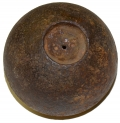 "U.S. 4.52"" 12-POUND SPHERICAL SHELL FOUND AT SPANGLER'S SPRING, GETTYSBURG – GEISELMAN COLLECTION"