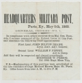"BROADSIDE – ""HEADQUARTERS MILITARY POST, PARIS, KY MAY 5TH 1863"", GENERAL ORDERS NO. 1"