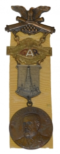 54TH NATIONAL ENCAMPMENT GAR BADGE 1920
