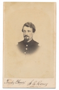 SIGNED BUST VIEW CDV OF 90TH PENNSYLVANIA QUARTERMASTER