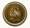 NEW YORK STATE SEAL STAFF BUTTON, CUFF SIZE