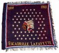 LAFAYETTE ESCADRILLE VETERANS' FLAG PRESERVED BY AN AMERICAN FLYER