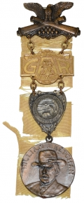 55TH NATIONAL ENCAMPMENT GAR BADGE 1921