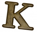 "LEAD FILLED HAT INSIGNIA ""K"""