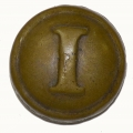 CONFEDERATE LOCAL INFANTRY COAT BUTTON, CS181