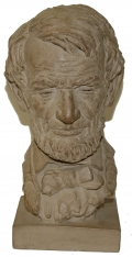TERRA COTTA PORTRAIT BUST OF ABRAHAM LINCOLN BY AMERICAN SCULPTOR JO DAVIDSON