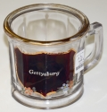 RUBY FLASH GLASS GETTYSBURG SOUVENIR MUG