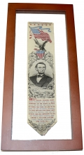 STEVENSGRAPH BOOKMARK OF ABRAHAM LINCOLN
