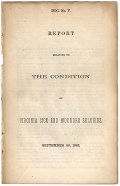CONFEDERATE IMPRINT - REPORT RELATIVE TO THE CONDITION OF VIRGINIA SICK AND WOUNDED SOLDIERS