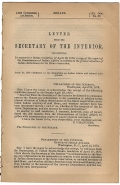 BATTLE OF THE LITTLE BIG HORN - LETTER OF THE SECRETARY OF THE INTERIOR