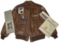 VERY NICE IDENTIFIED WORLD WAR TWO LEATHER FLIGHT JACKET GROUP