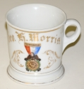 SONS OF VETERANS SHAVING MUG, DATED 1881