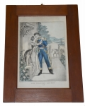 FRAMED MEXICAN WAR PRINT: THE SOLDIER'S RETURN