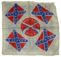 CONFEDERATE FLAG SILK HANDKERCHIEF