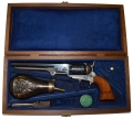 REPRODUCTION MODEL 1851 COLT NAVY SQUARE BACK MADE BY COLT-WITH PRESENTATION CASE AND ACCESSORIES
