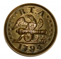 RHODE ISLAND, BRISTOL TRAIN OF ARTILLERY COAT BUTTON