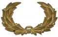 STAMPED BRASS WREATH HAT INSIGNIA