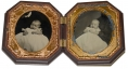 TWO SIXTH PLATE TINTYPES OF BABIES