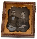 SIXTH PLATE DAGUERREOTYPE OF MAN & WOMAN